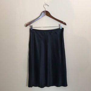 Ann Taylor Navy Blue 100% Silk Skirt Size 8